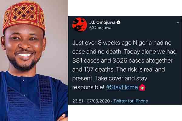 You can't afford to get tired of staying safe ....Omojuwa