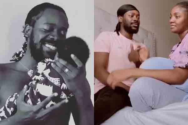 Beautiful moment; Adekunle Gold sings for his little one