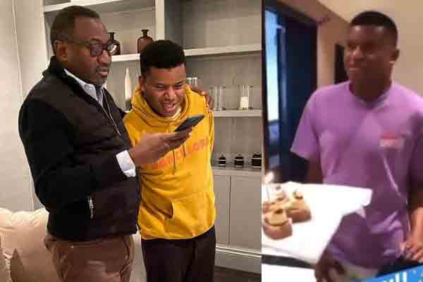 Birthday-Billionaire Femi Otedola celebrates his son, Fewa