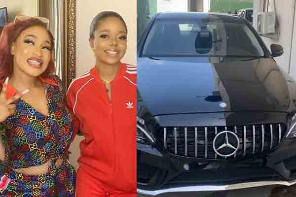 Tonto Dikeh gets a car gift from her friend
