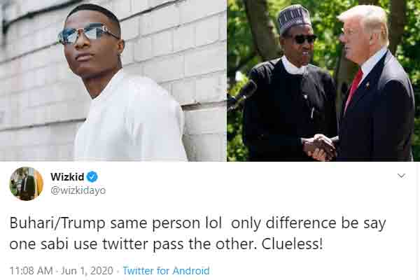Wizkid identifies the similarity btwn Nigeria and US