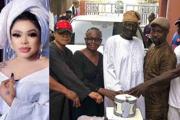 bobrisky surprises dad cake and his real face on his birthday