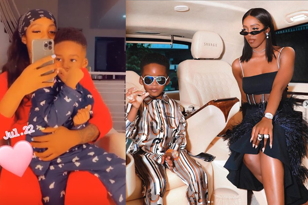 Birthday- Tiwa Savage's son Jamil clocks 5yrs
