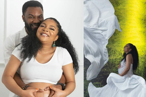 Lovely maternity photos of actress Linda Ejiofor and her husband, Ibrahim Suleiman
