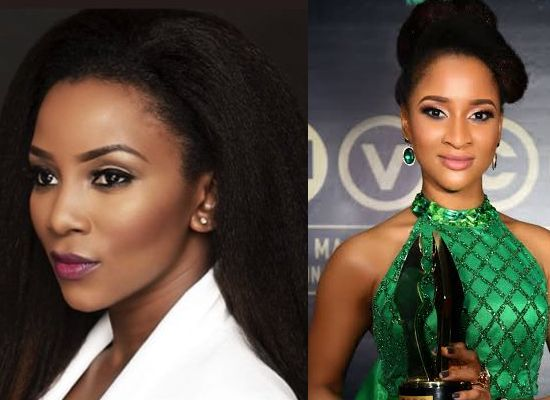 Twitter users battle over Genevieve and Adesua