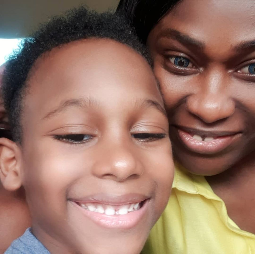 Uche Jombo Shares Adorable Photo With Her Son.